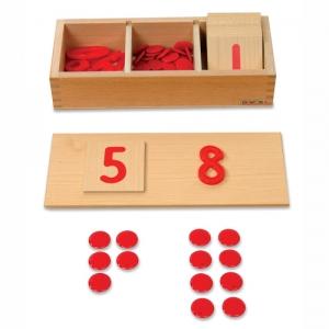 숫자와 바둑알 - 다원몬테소리 교구-몬테소리교구 어린이집 유치원 교구