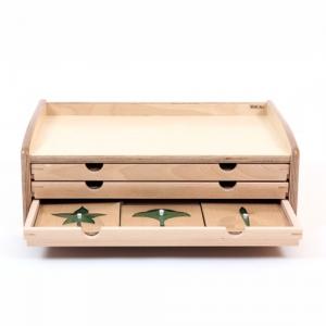 나뭇잎도형서랍-몬테소리교구 어린이집 유치원 교구