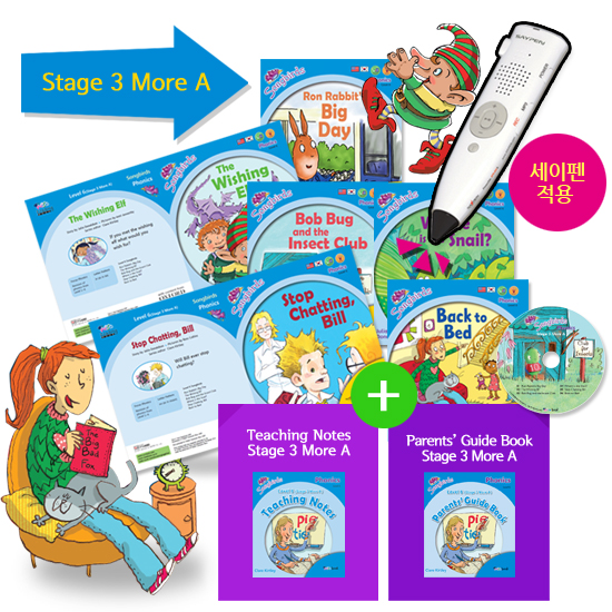 Songbirds Phonics Stage 3 More A