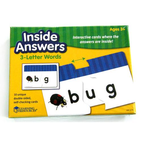러닝리소스[LER 3279] 숨어있는 세글자 영어단어카드/ Inside Answers™ 3-Letter Words Card Set
