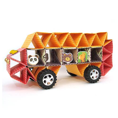 [STEAM & smart] 도형접기를 이용한 자동차 만들기(개당) -3개이상 주문가능