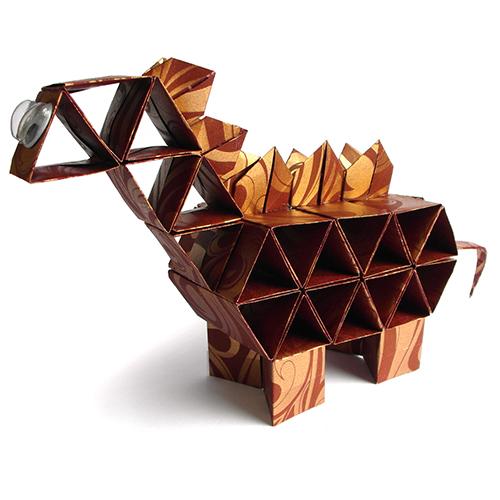 감성쫑이 도형접기를 이용한 공룡 만들기(5개)