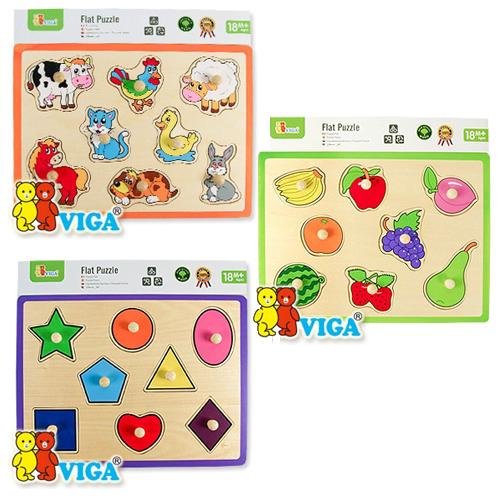 [VIGA] 꼭지 퍼즐 세트 (과일도형동물)