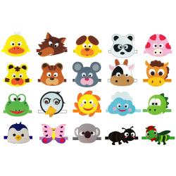 동물머리띠 A(5인용),청양토이,펠트교구,펠트만들기,유치원교구