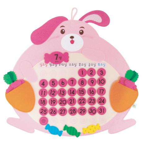 펠트달력-뚱뚱보 토끼