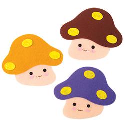반짝이펠트소품(버섯)※ 5개 단위 판매
