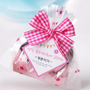 리본포장 어린이양말 생일선물
