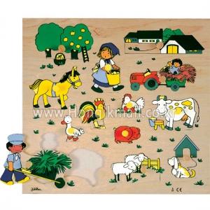 [htl8357] 농장 페그손잡이 퍼즐
